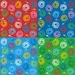 Four seamless abstract patterns with fabric texture