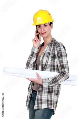 Engineer on a construction site