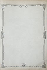 Old Grunge Paper With Floral Ornament Frame