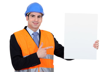 Engineer with a blank board