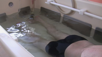 Foot and leg water jet massage