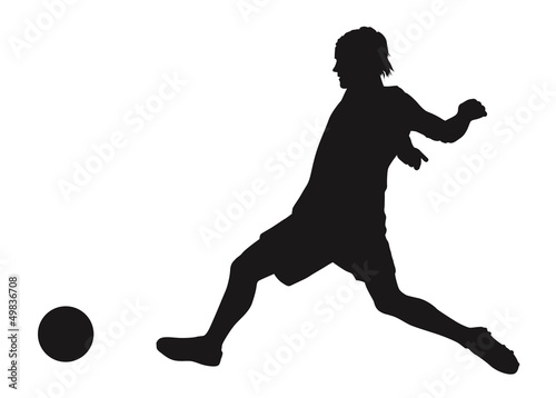 Soccer player detailed vector silhouette. Sports design