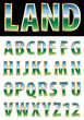 land golden font
