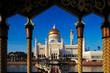 Постер, плакат: Sultan Omar Ali Saifuddien Mosque in Brunei
