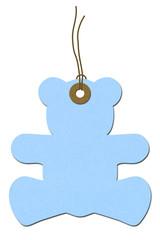 Teddy-bear Baby Shower Gift Tag