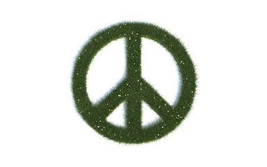 "Peace Zeichen: Serie ""Symbole aus realist. Gras"""