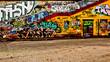 canvas print picture - Graffiti Wand