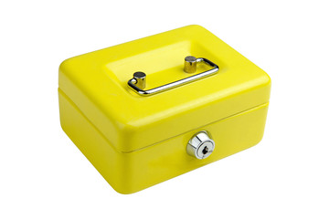 Yellow metal box