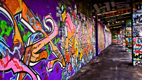canvas print picture Graffiti Gang