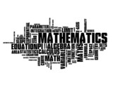 """MATHEMATICS"" Tag Cloud (maths formula equation theorem x y)"