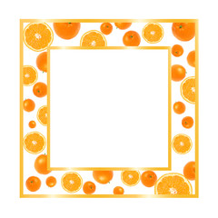 Gold frame with oranges