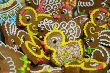Easter homemade gingerbread background