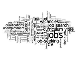 """""""JOBS"""" Tag Cloud (careers vacancies cv recruitment employment)"""