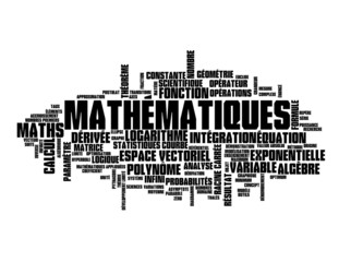 "Nuage de Tags ""MATHEMATIQUES"" (maths équations sciences formule)"