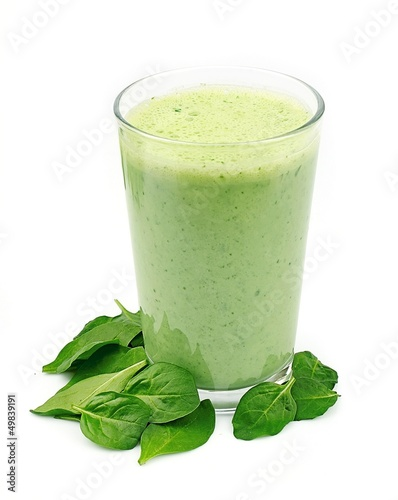 Spinach smoothie. Vegetable cocktail