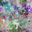 Fond mur grunge - Graffitis