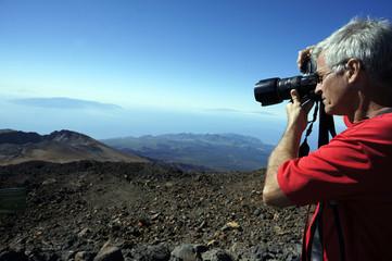 Fernsicht vom Teide bis La Palma, Hiero und La Gomera