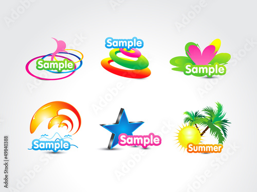 abstract colorful fake logo icon