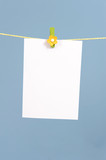 memo notes hanging on a clothes line