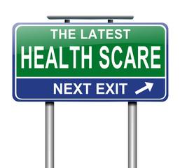 Health scare concept.