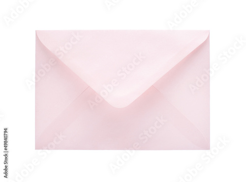 Blank envelope isolated on white background