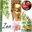 Fototapeten,buddhas,lotus,bambus,zen