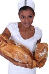 Portrait of woman baker