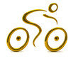 Golden cyclist icon