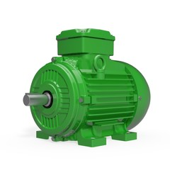 Electric Motor - B3 - IM1001 - Green