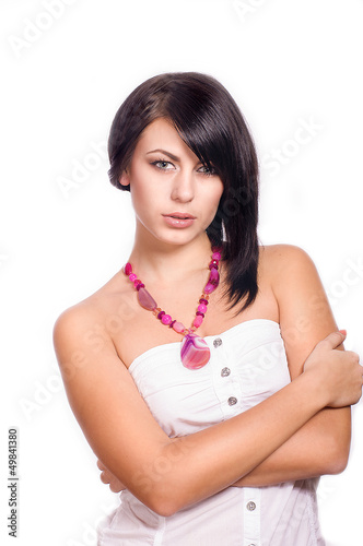 Young woman with a necklace