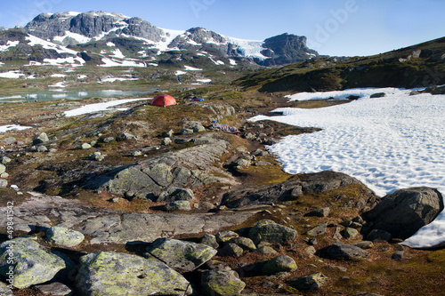 Campside in the Hardangervidda Nationalpark in Norway
