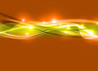 orange digital wave