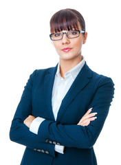Portrait of corporate beautiful young businesswoman