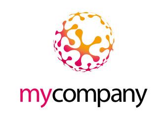Logo sferico colorato energia