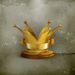 Golden crown, old-style