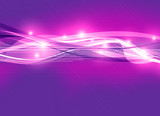 purple digital waves