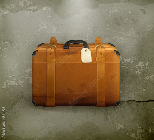 Baggage, old-style vector