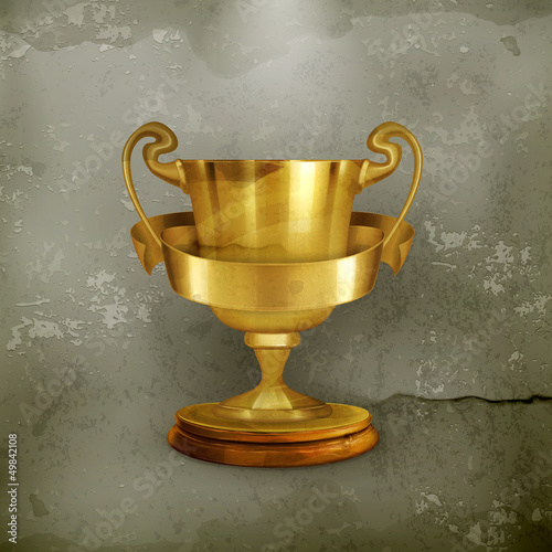 Gold trophy, old-style