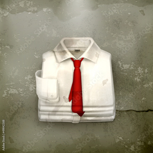 White Dress shirt, old-style