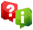 Speech Bubbles Question & Information Red/Green