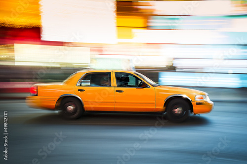 Taxi New York in Time Square