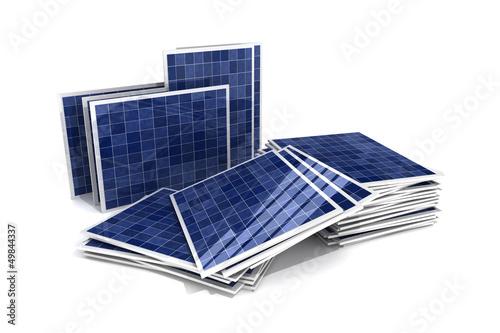 gestapelte Solarpanele