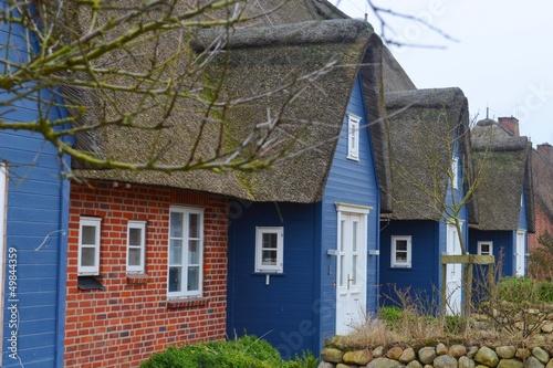 blaue Friesenhäuser