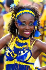 jolie danseuse brésilienne afro défile à carnaval