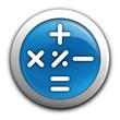 calculatrice sur bouton bleu