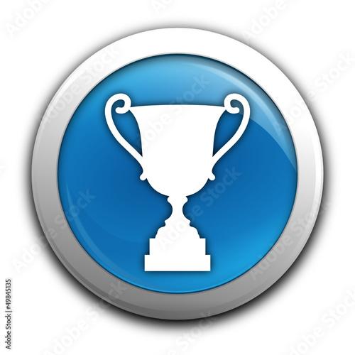victoire sur bouton bleu