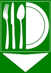 CARTELLO INDICATORE SALA RISTORANTE TAVOLA CALDA FAST FOOD