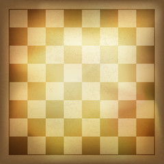 Grunge vintage chess background. Vector, EPS10