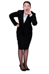 Businesswoman shouting