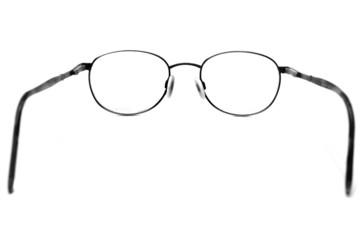 Black Eyeglasses Looking Through Lenses